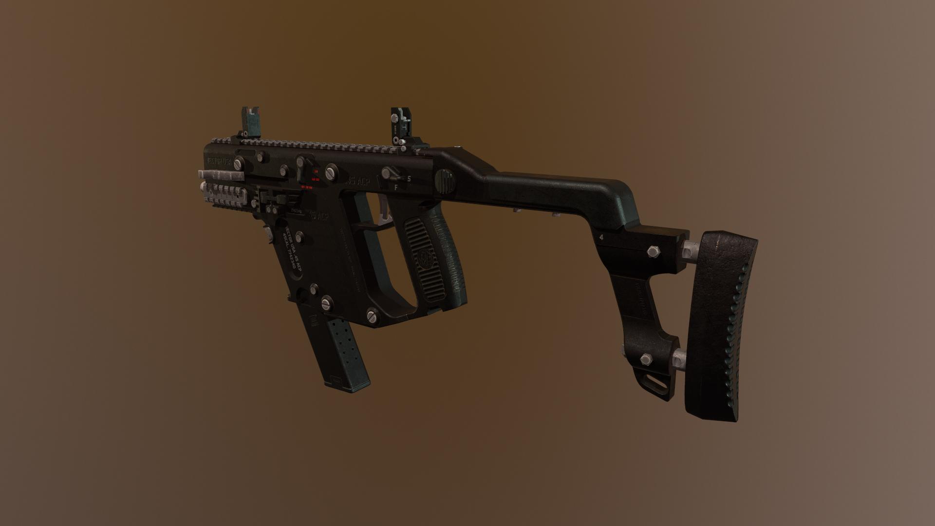 Kriss Vector Submachine Gun FPS Game Model