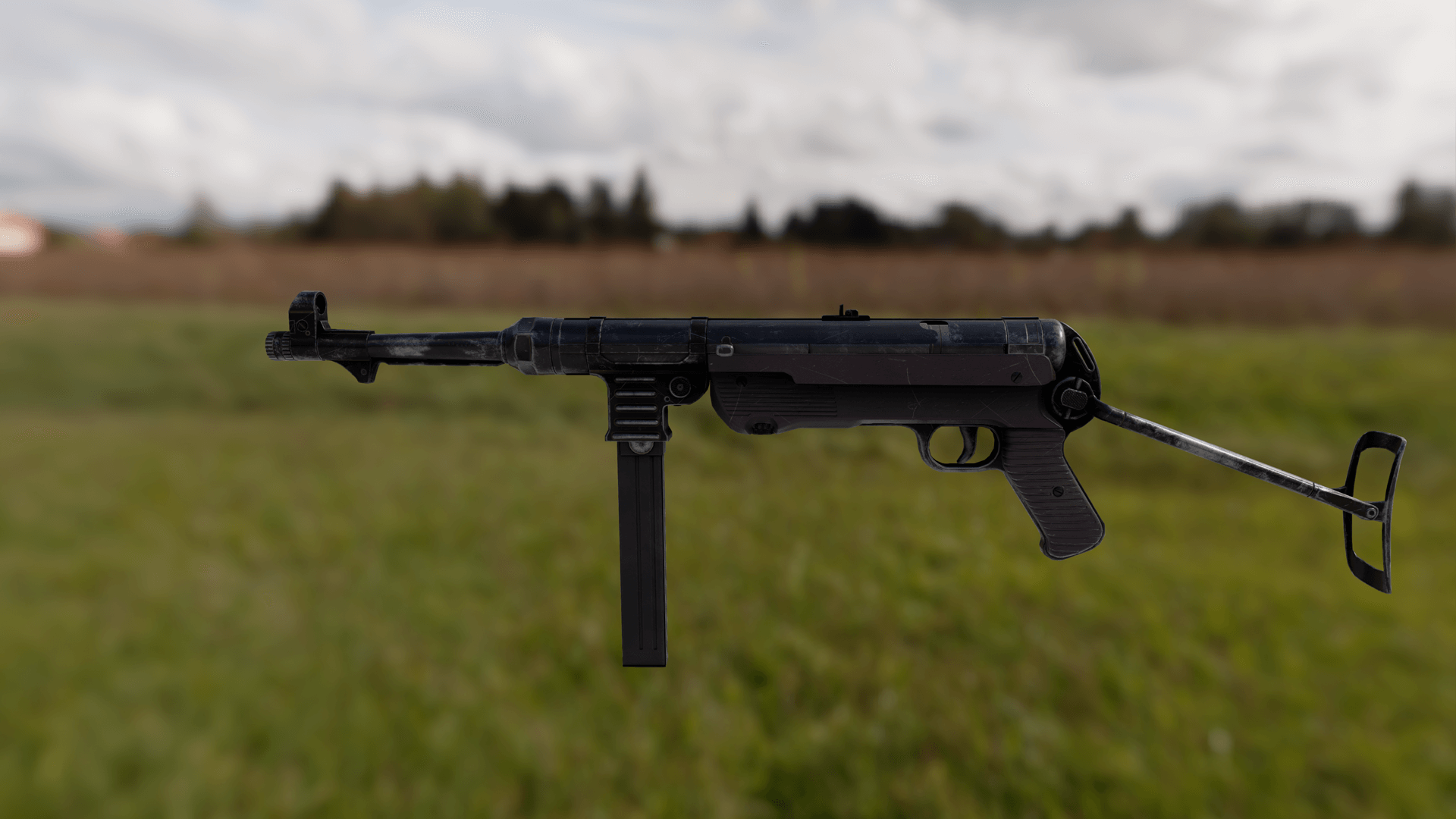 MP40 Submachine Gun FPS Game Model